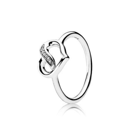 """Кольцо """"Сердце с камнями"""""""