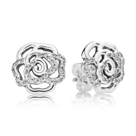 Серьги «Мерцающие из роз»