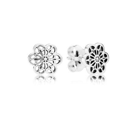 Серьги-пусеты «Цветочное кружево»
