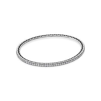 Браслет из серебра с кубическим цирконием