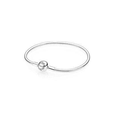 Браслет из серебра с круглой застежкой p-lock