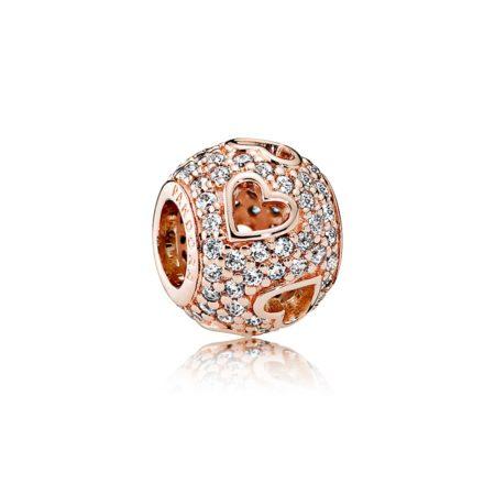Шарм «Сердца в камнях» Pandora Rose