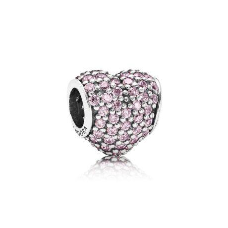 Шарм «Розовое Сердце Pave»