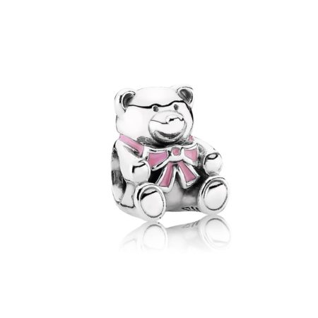 Шарм «Мишка с розовым бантиком»