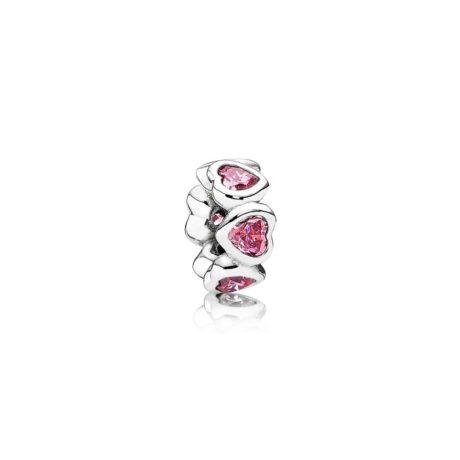 Шарм «Розовые Сердца»