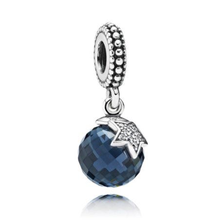 Шарм-подвеска «Синий кристал со звездой»