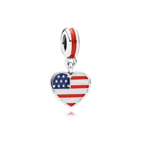 Шарм-подвеска «Сердце USA»