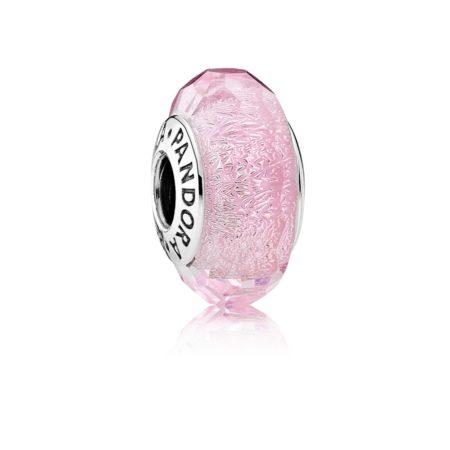 Шарм «Мурано розового цвета с блестками»