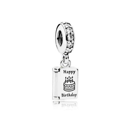 Шарм-подвеска «Открытка Happy Birthday»