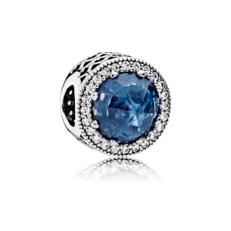 Шарм «Radiant Hearts с синим кристалом»