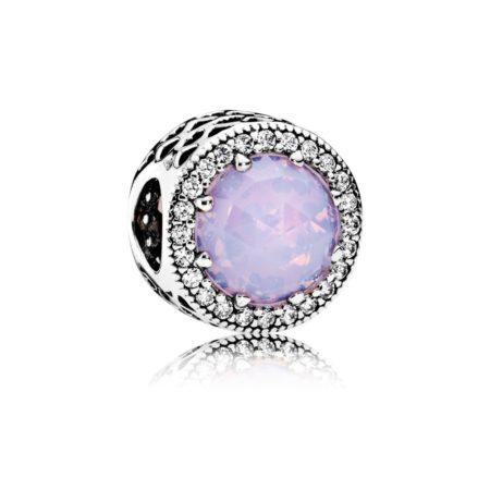 Бусина «Radiant Hearts с розовым кристалом»
