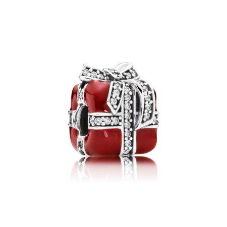 Шарм «Красный подарок с бантиком»