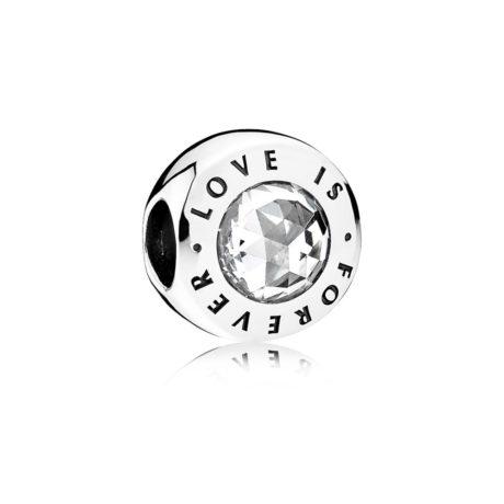 Подвеска-шарм из серебра «Любовь навсегда»