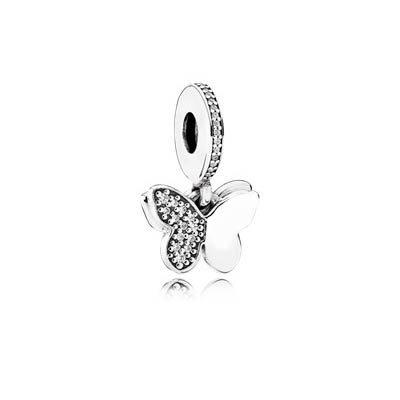 Подвеска из серебра «Порхающие бабочки»