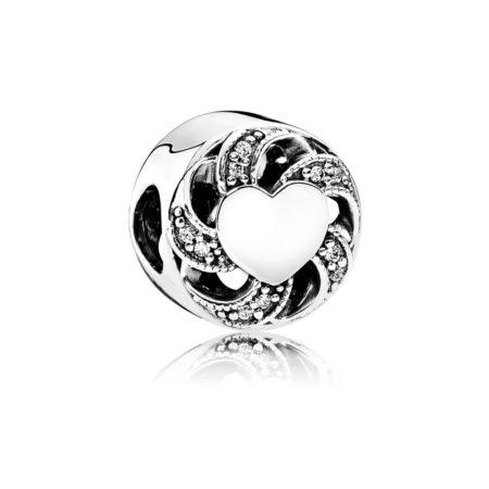 Шарм «Лента с сердцем»