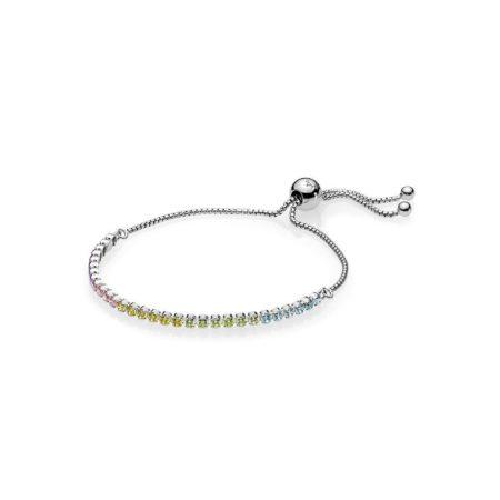 Серебряный браслет с кубическим цирконием