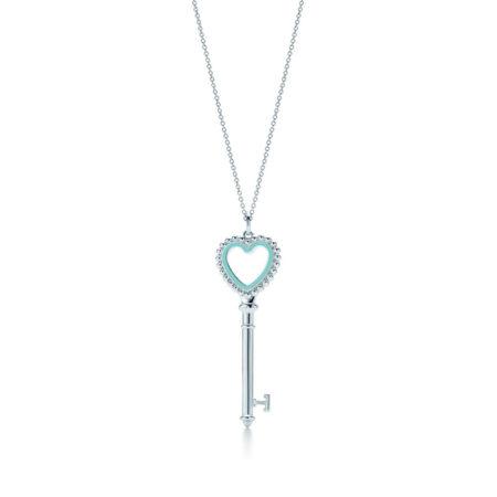 Подвеска-ключ с сердцем, украшенным бусинами Tiffany Keys