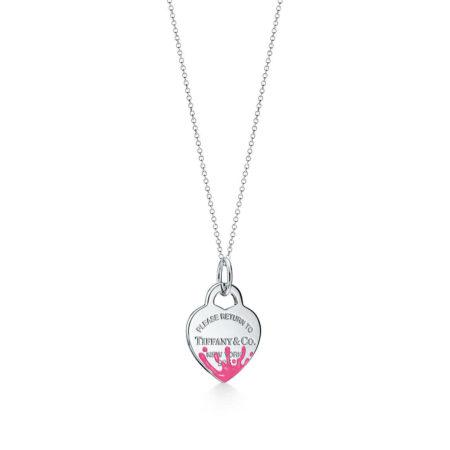 Подвеска-шарм в форме сердца с цветными брызгами Return to Tiffany™