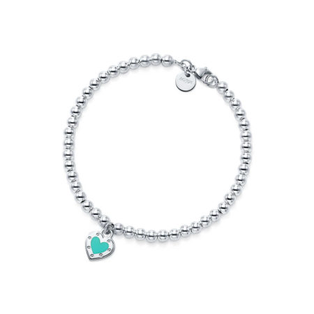 Браслет из бусин с подвеской Love в форме сердца Return to Tiffany™