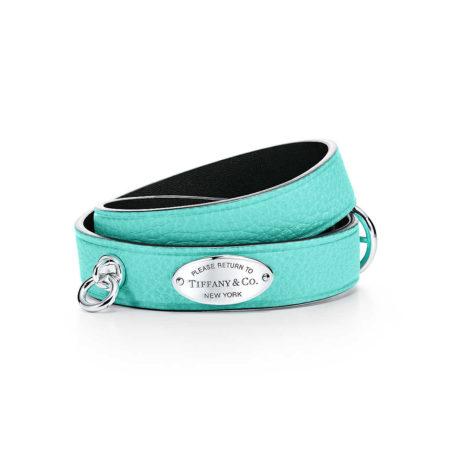 Узкий кожаный браслет в несколько оборотов Return to Tiffany™