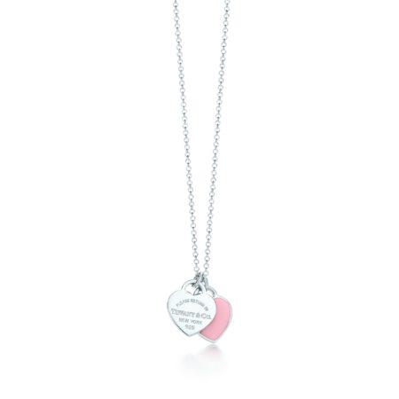 Миниатюрная двойная подвеска в форме сердца Return to Tiffany™