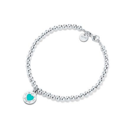 Браслет с круглой подвеской в форме сердца Return to Tiffany™