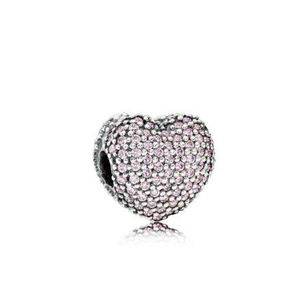 Клипса-фиксатор «Розовое Сердце Pave»