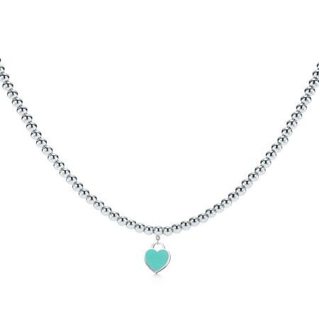 Ожерелье из бусин в форме сердца Return to Tiffany