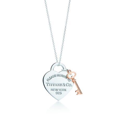 Миниатюрная подвеска в форме сердца с ключиком Return to Tiffany