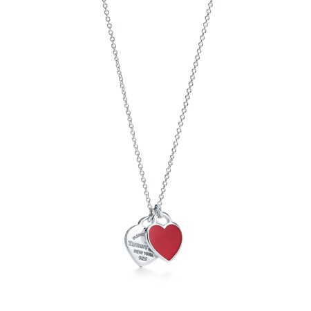 Миниатюрная двойная подвеска в форме сердца Return to Tiffany
